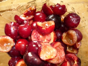 Chopped Picota cherries