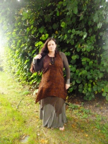 First few items from the Modern Medieval collection - dress, overdress and tunic all made by me.