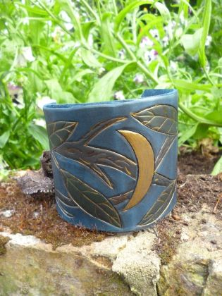 Midsummer Night leather cuff
