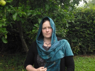 Midsummer Night hooded scarf